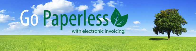 Go Paperless with Electronic Invoicing